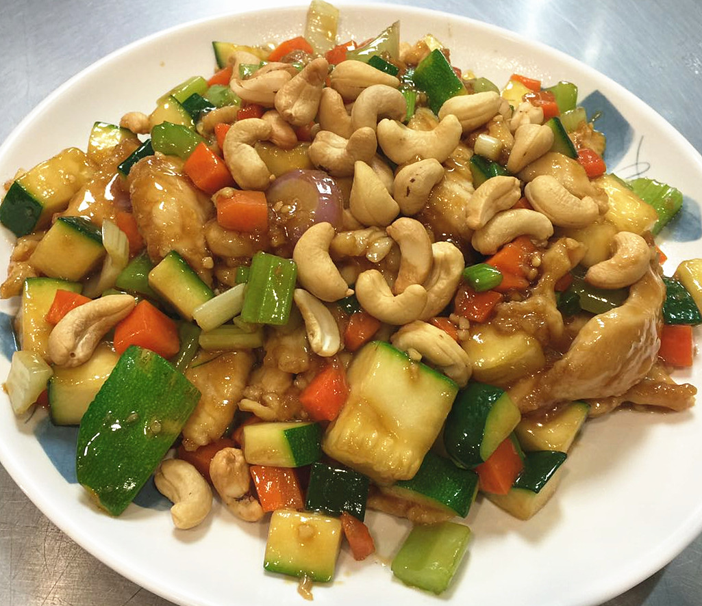 Zucchini, Mushroom And Cashew Chicken Recipe — Dishmaps